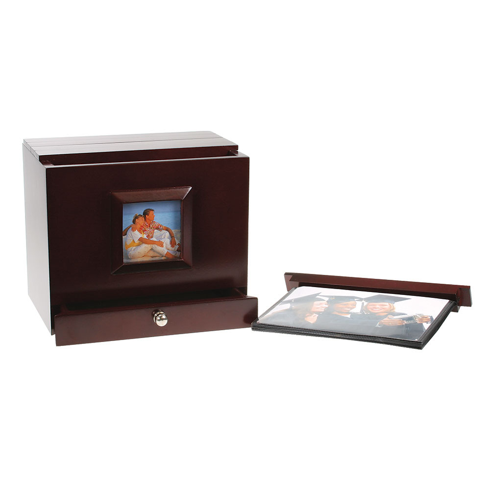 Wooden Photo Album Box with Side Frame