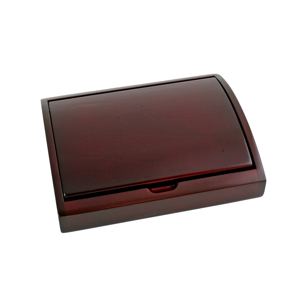 Rosewood Finish Curved Wooden Box