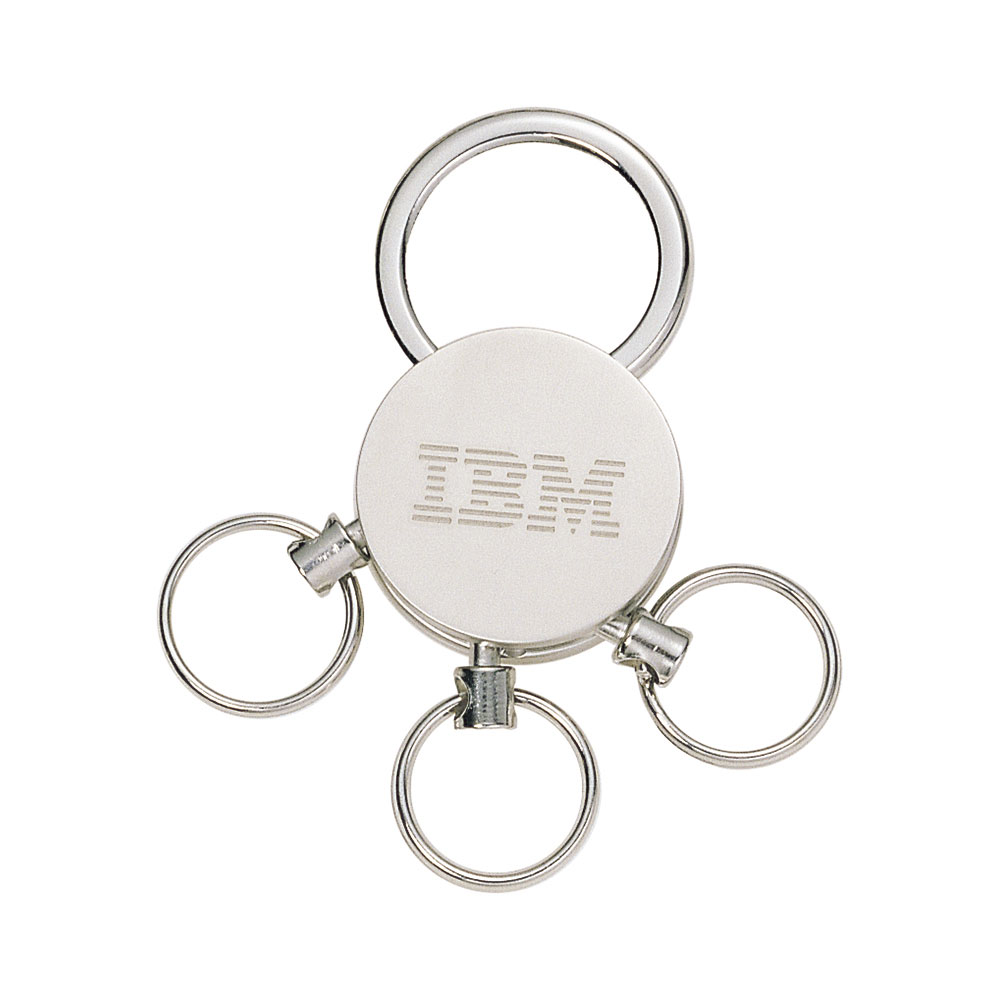 Detachable Three Ring Round Metal Key Chain