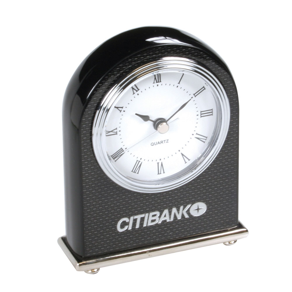 Carbon Fiber Design Arched Desktop Clock