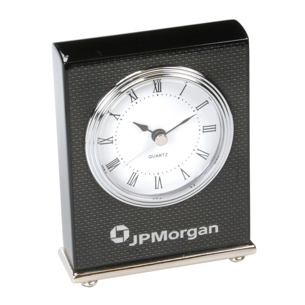 Carbon Fiber Design Rectangular Desktop Clock