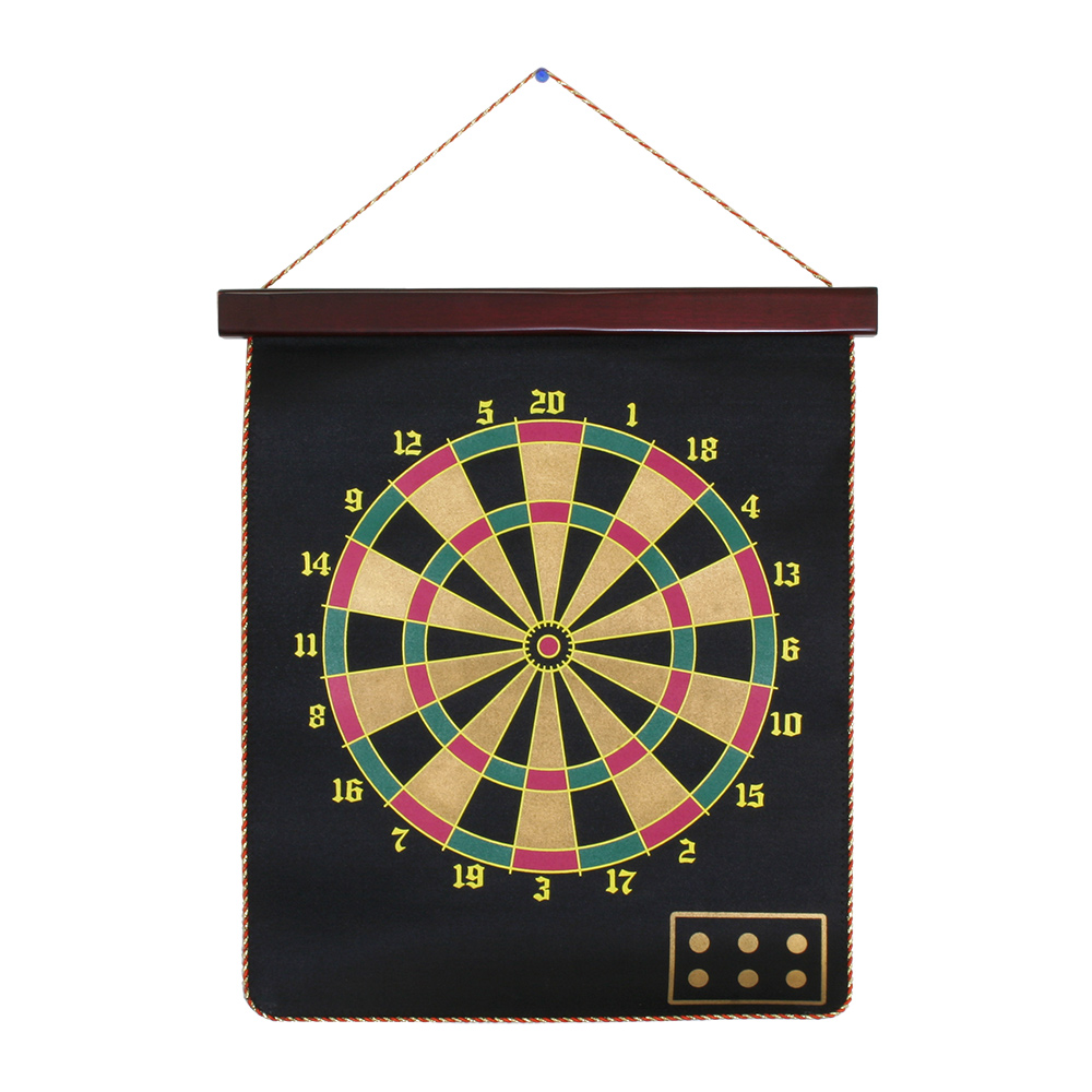 Double-Sided Magnetic Dart Board
