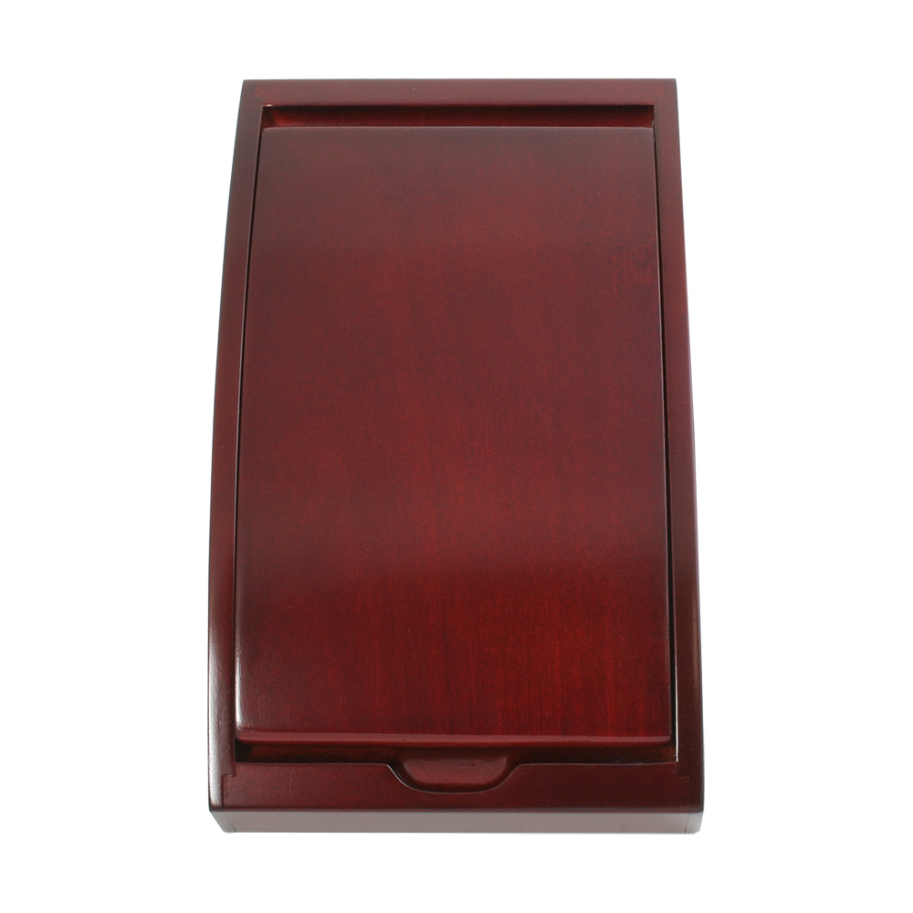 Small Arched Wooden Box in Rosewood Finish