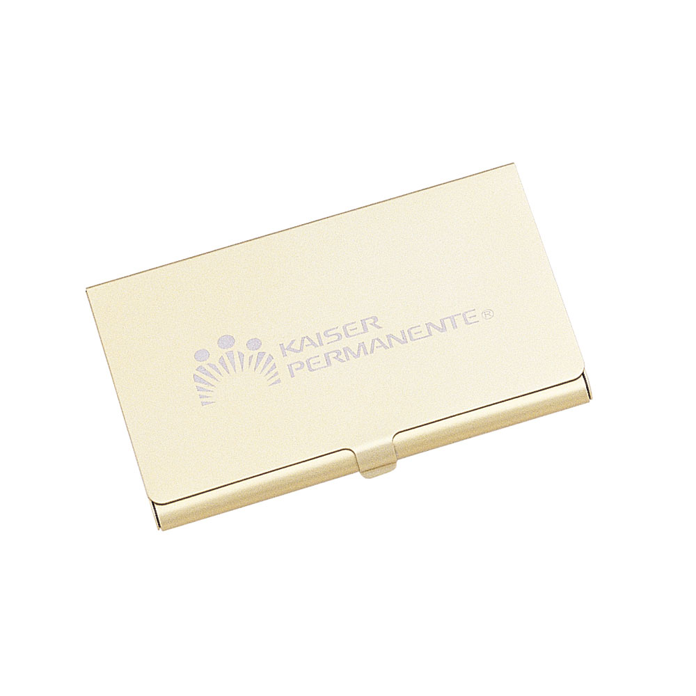 Solid Brass Business Card Case in Gold Finish | BD144G