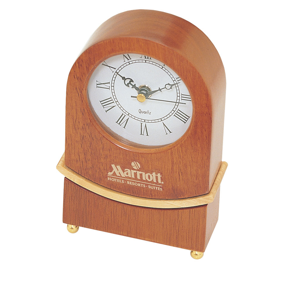 Wooden Clock with Moving Pendulum