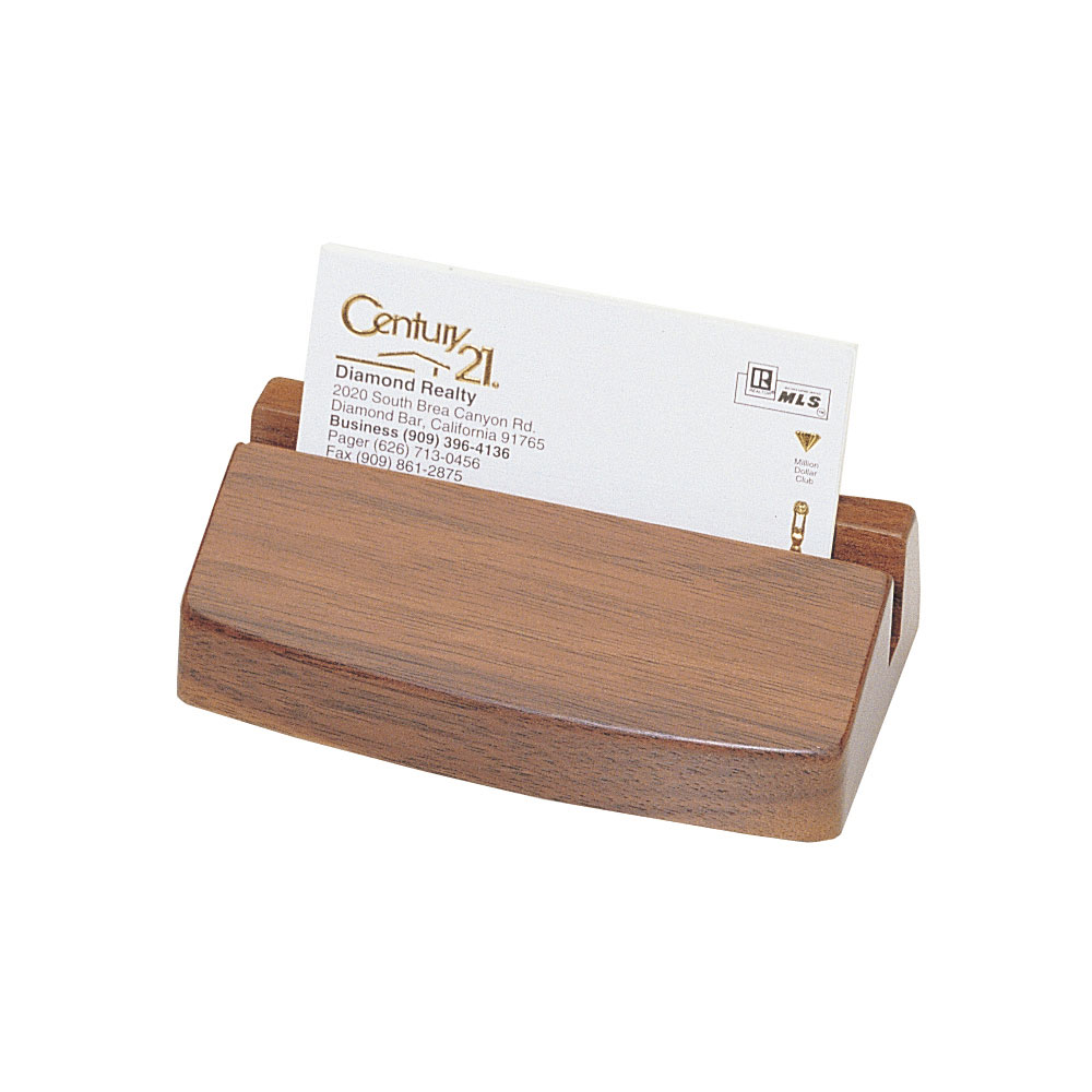 Executive Business Card Holder - Solid Walnut | D354N-W