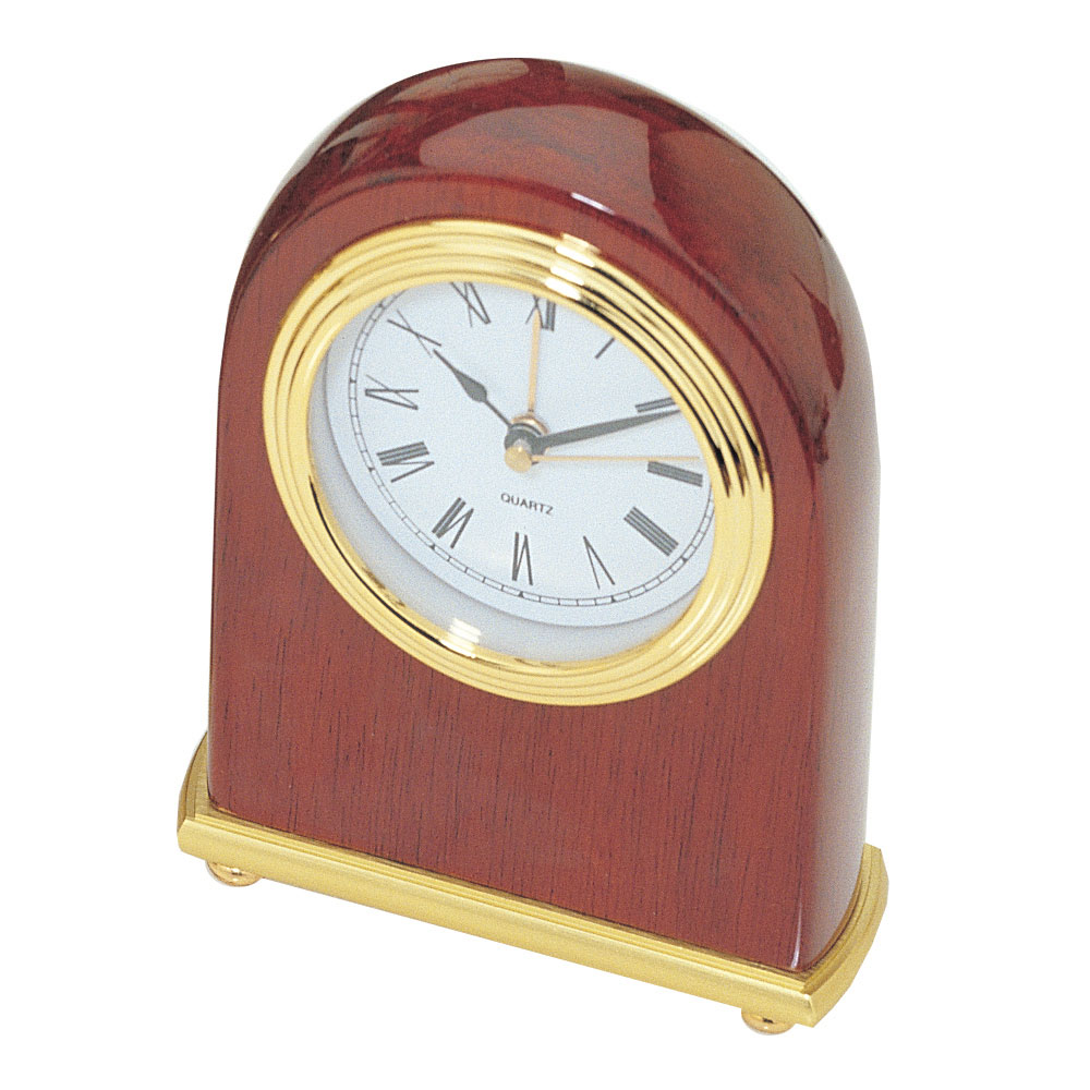 Piano Finish Arched Desktop Alarm Clock
