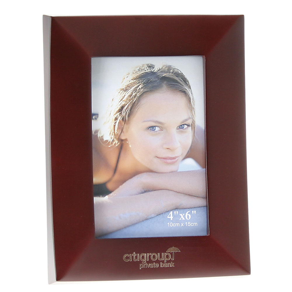 "Rosewood Finish Wooden Picture Frame (4""x6"")"