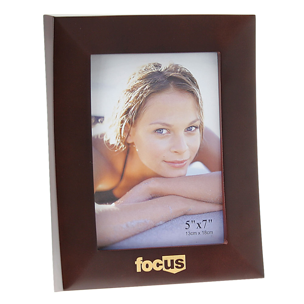 "Rosewood Finish Wooden Picture Frame (5""x7"")"