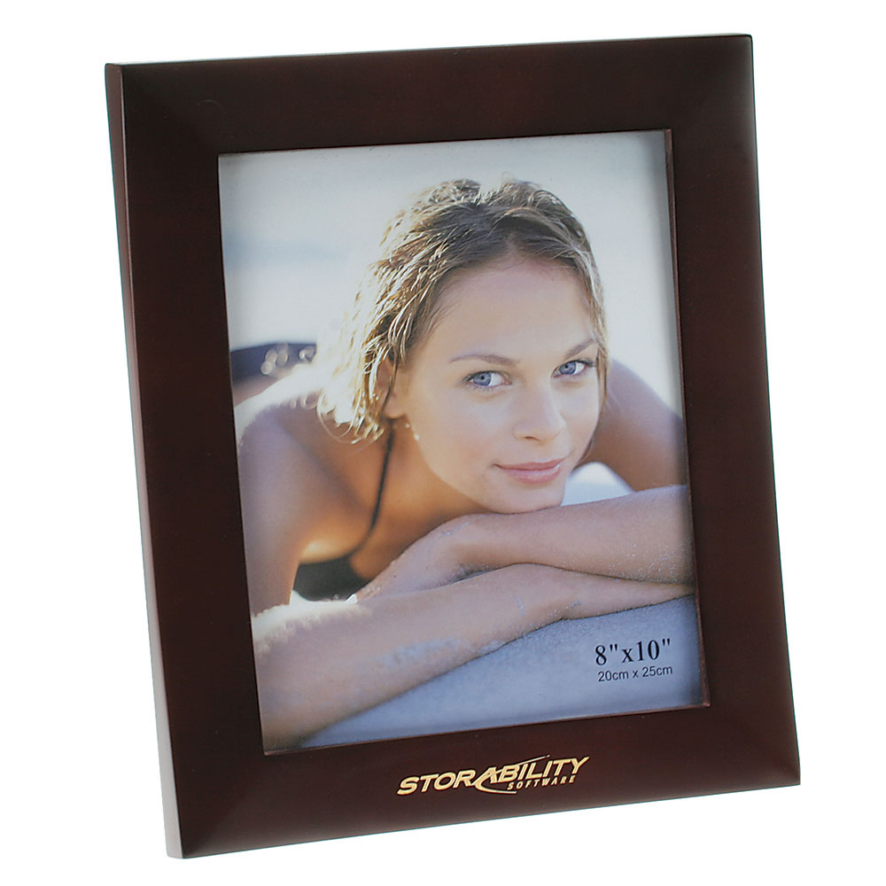"Rosewood Finish Wooden Picture Frame (8""x10"")"