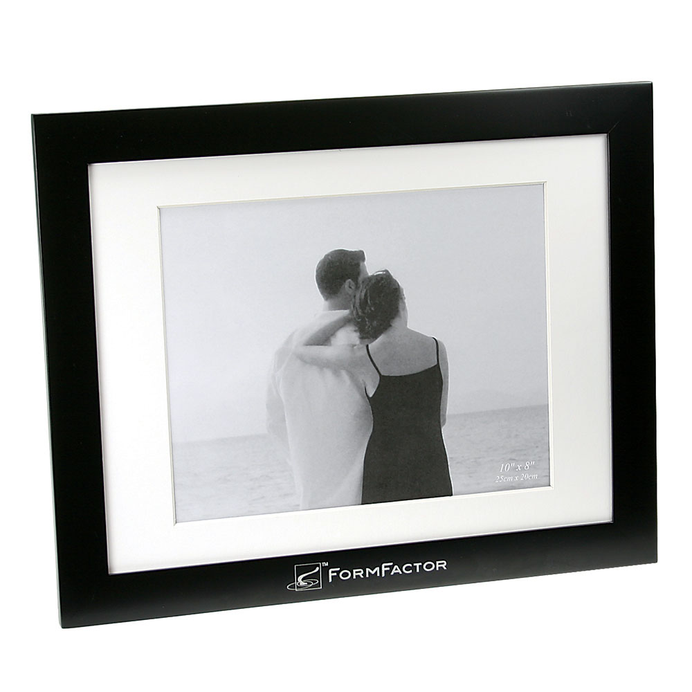 "Black Finish Wooden Picture Frame (8""x10"")"