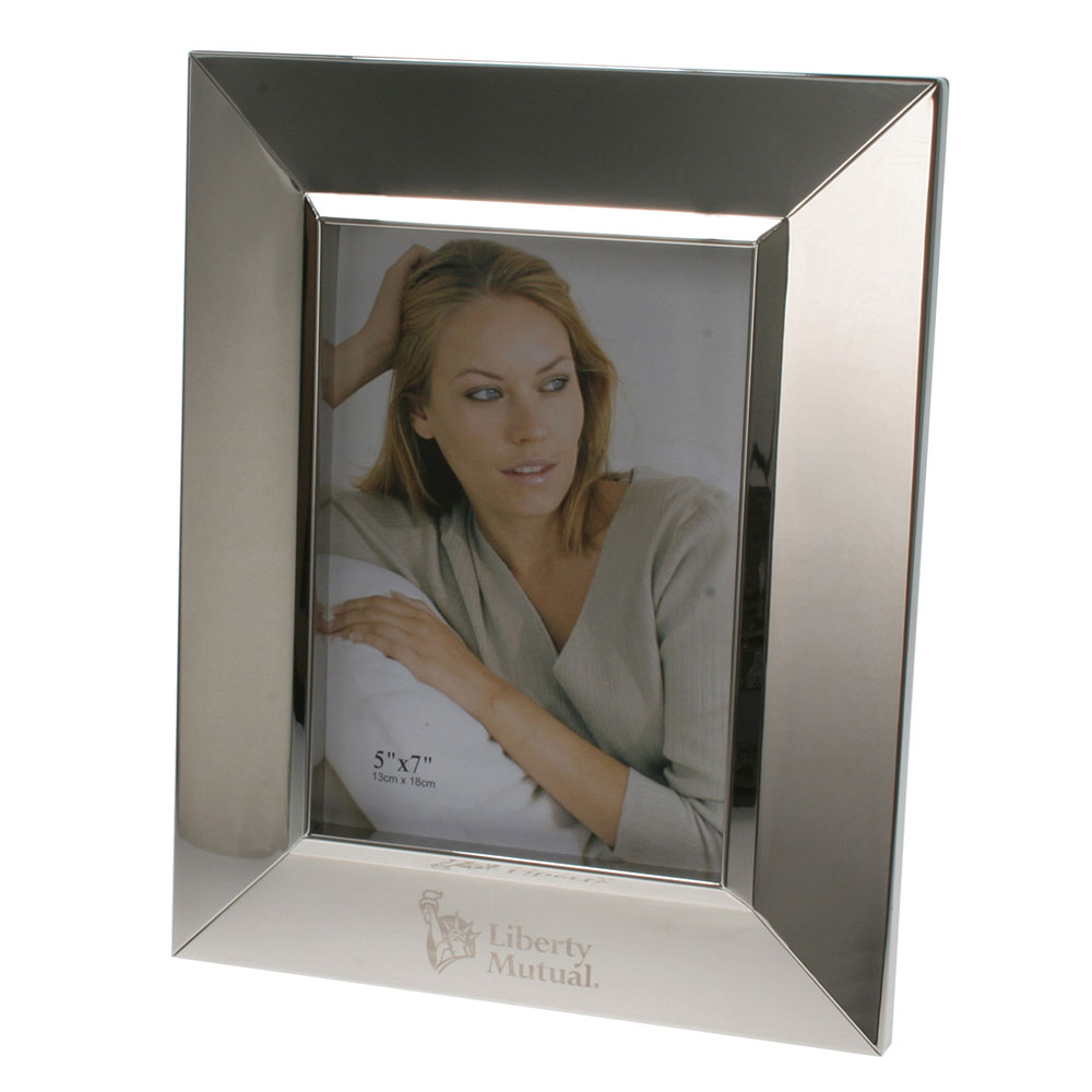 "Shiny Silver Picture Frame (5"" x 7"")"