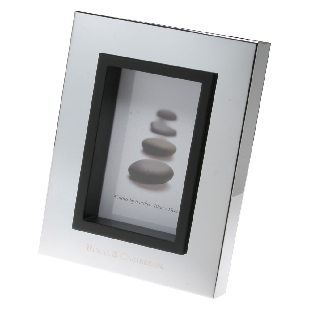 Glossy Silver Galleria Picture Frame 4 X 6 F3846