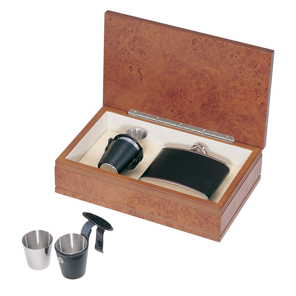 Vodka and Whiskey Gift Set with Flask