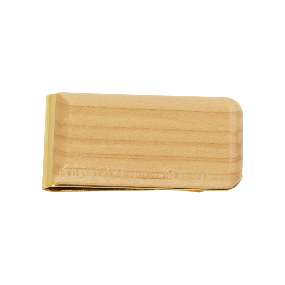 Genuine Maple Wood Money Clip