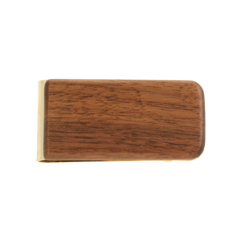 Genuine Walnut Wood Money Clip