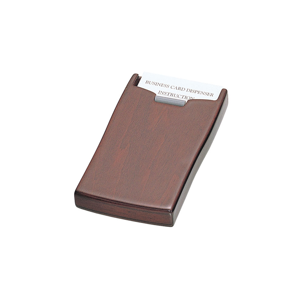 Executive Leather Business Card Case with Buckle Flap in Black | BD606