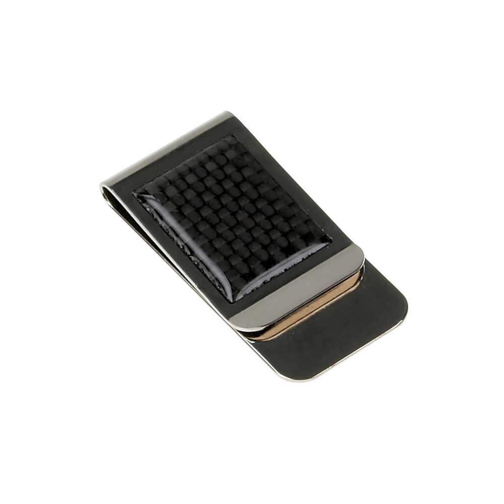 Carbon Fiber Design Metal Money Clip