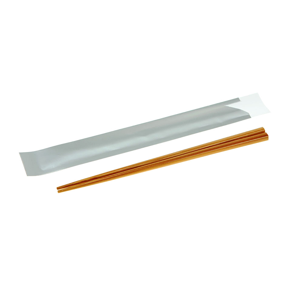 Bamboo Chopsticks in Silver Paper Pouch