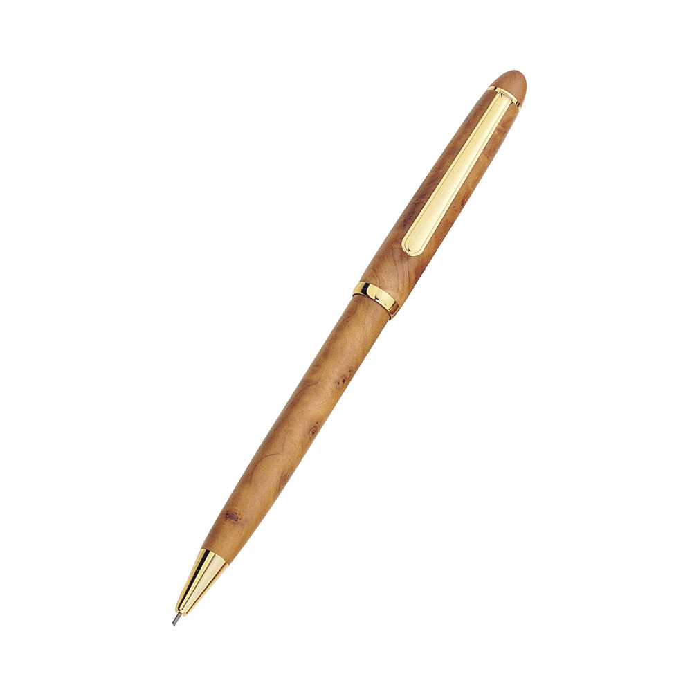 Executive Medium Sized Burl Wood Mechanical Pencil