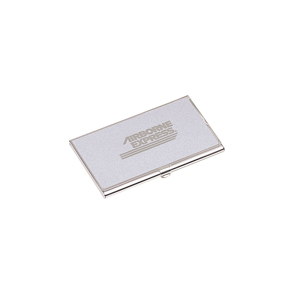 Solid Brass Business Card Case in Silver Finish | BD144S