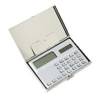 Calculator with Built-In Card Holder