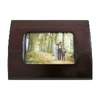 Rosewood Finish Photo Frame with Curved Edges (5