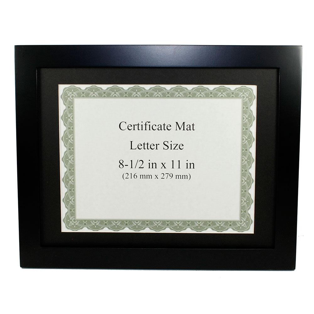 Black Finish Wooden Certificate Frame 8 12x11 F3080cbk