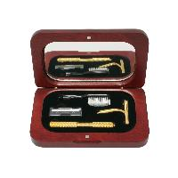 Toothbrush / Shaving Gift Set in Rosewood Finish Box
